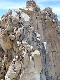 Typical climbing on E. Ridge