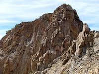Summit finally comes into view from E. Ridge