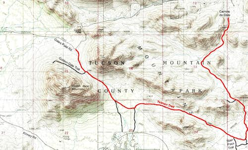Map of Yetman Trail