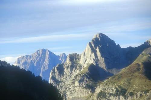The north face of Telera,...