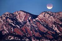 Lunar Eclipse Over South Boulder Peak