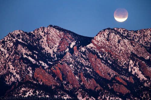 Lunar Eclipse Over South Boulder Peak