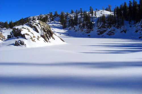Shadows on Lake Mary.