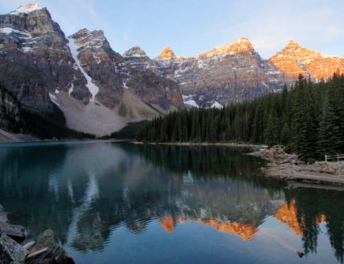 Moraine Lake At Dusk