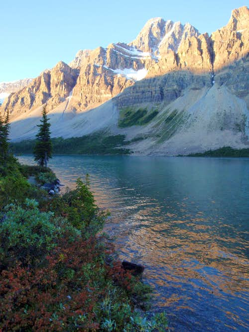 Bow Lake Alpenglow