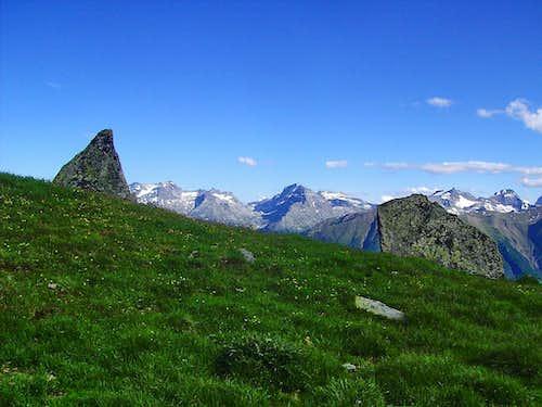 At summit parts of Telligrat