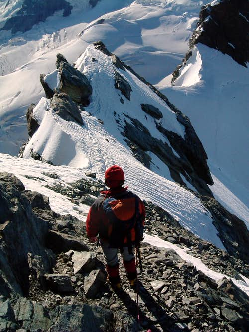 Descent from Eastern Breithorn