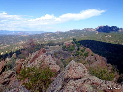North from Turtle Mountain summit