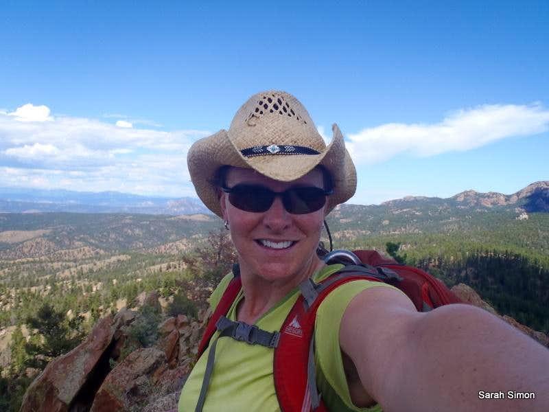 On the summit of Turtle Mountain