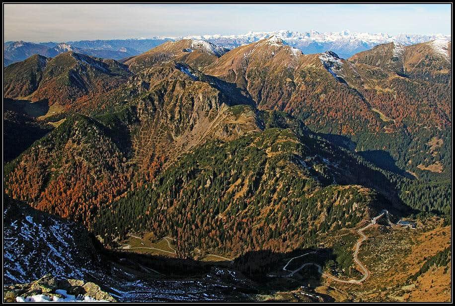 Passo Manghen from Monte Ziolera