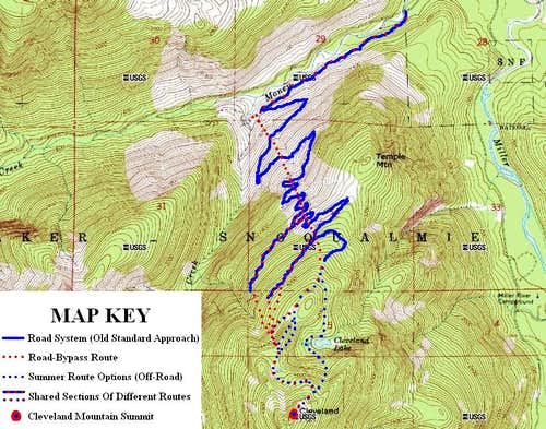 Cleveland Mountain Standard Routes