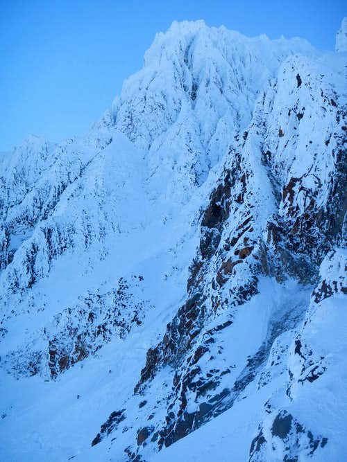 Two Climbers - Leuthold Couloir