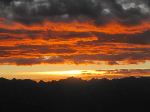 Sunset over the Cordillera Negra