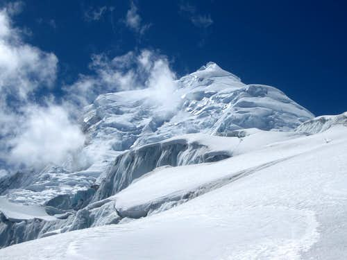 Huascaran Norte from low on the glacier