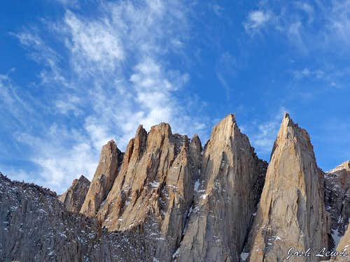 Clouds over Mount Whitney