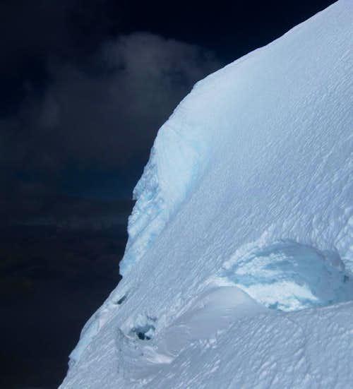 It's a bit steep here!