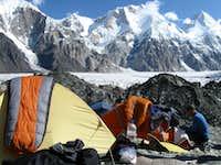 Camp life on Kyrgyz side of Pik Pobeda