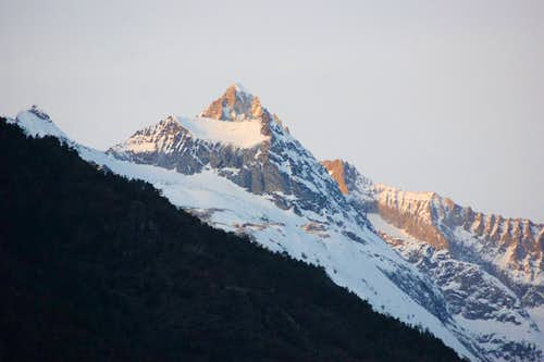 Bietschhorn at sunset
