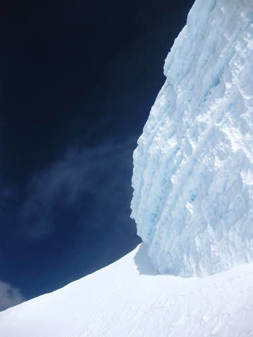 Ice wall on Huascaran Norte