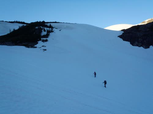 Ascending To Lateral Moraine...