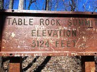 Table Rock Summit Sign