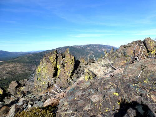 Babbitt Peak 8760\' and the Bald Mountain Range seen from the Verdi Ridge