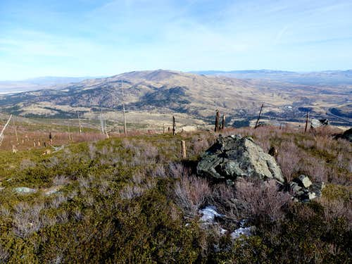View east towards Peavine Peak and South Mountain