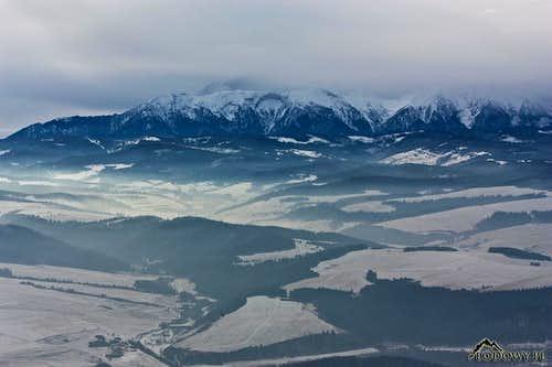 Misty Tatras from Trzy Korony