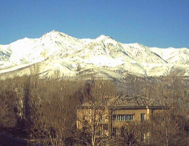 View of east of Alvand peak...