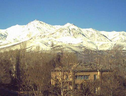 View of east of Alvand peak...