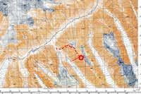 Pik Emma North Ridge route