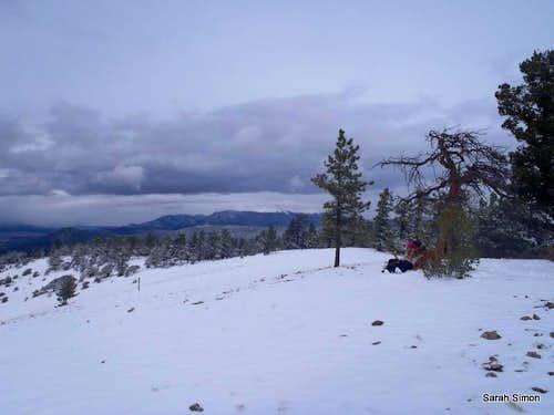 Northeast across summit
