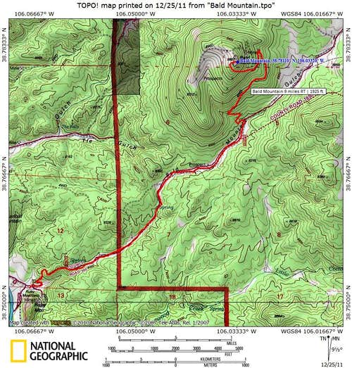 Route Map_Bald Mountain