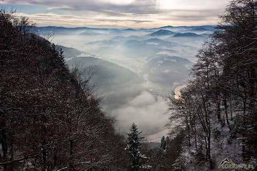 Dunajec canyon from Trzy Korony