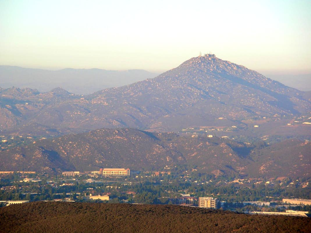 Mt Woodson viewed from Black Mtn