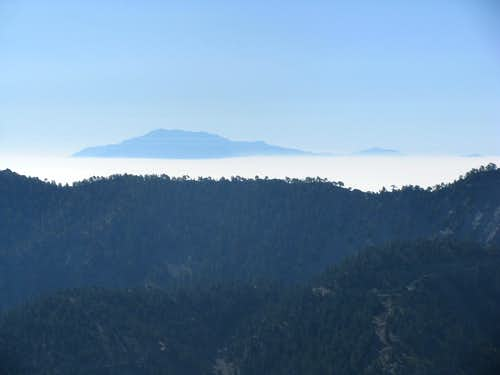 San Jacinto above a sea of haze