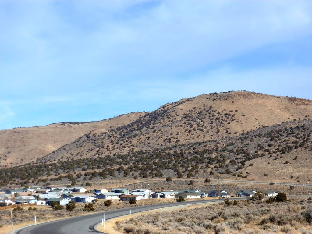 Point 5963 rising above the Reno/Sparks Indian Colony