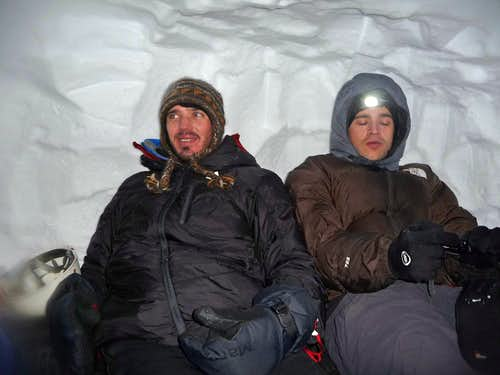 Sitting in the Snow Cave