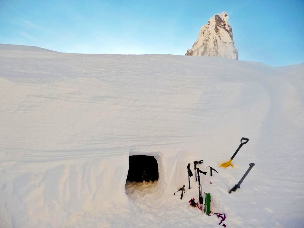 Our Snow Cave on the Ridge