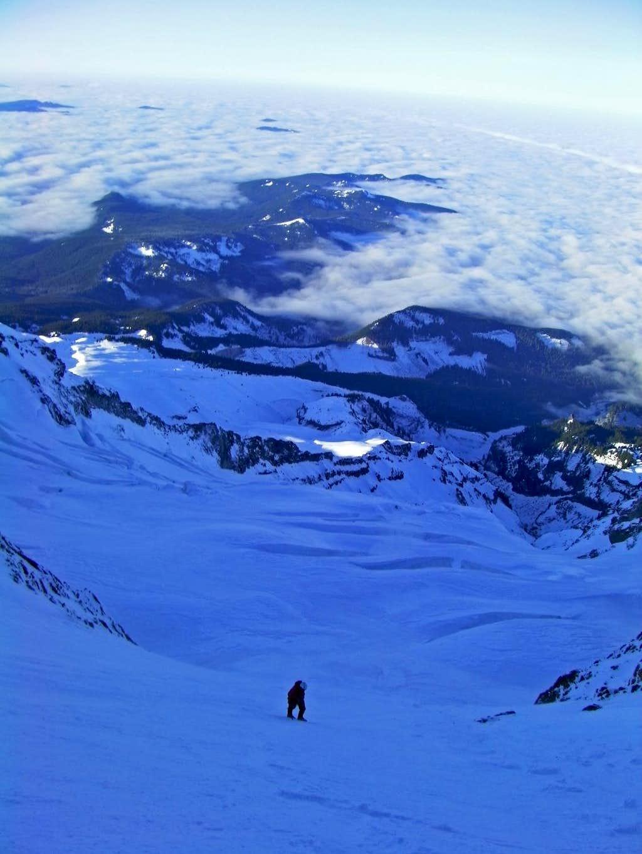 Climbing High up on Mount Hood