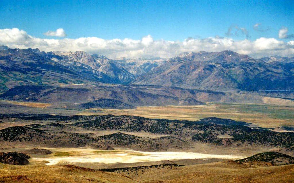 High Sierra over Bridgeport Valley