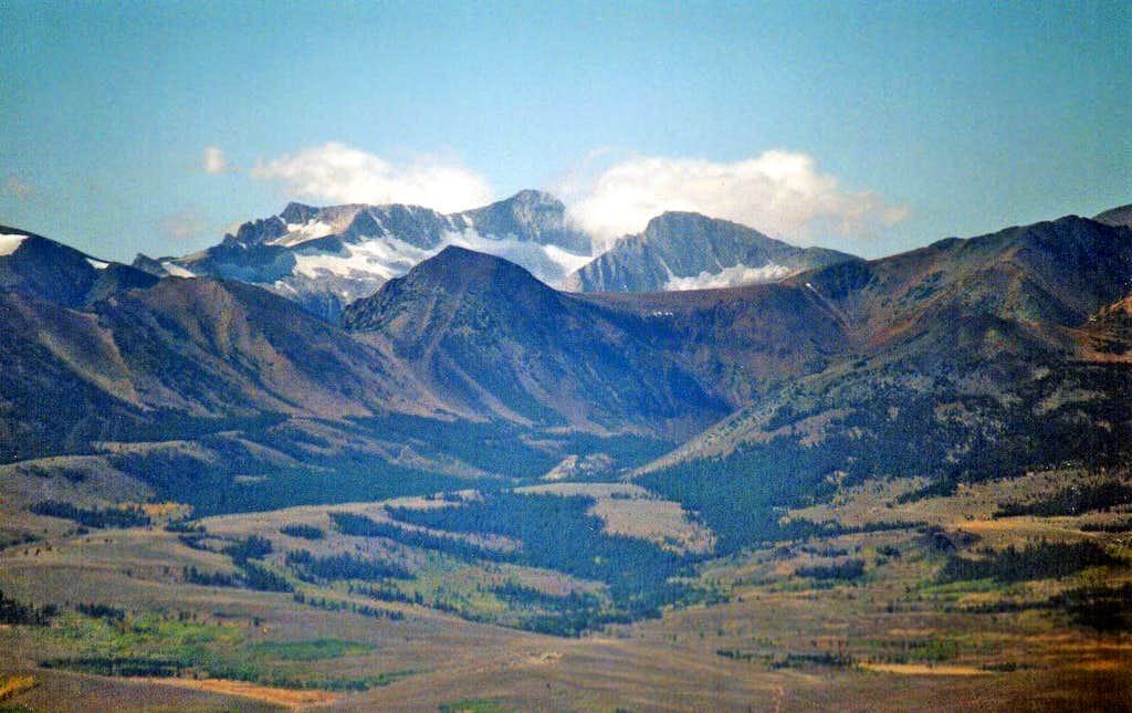 Mt. Conness, 12,590' and North Peak, 12,242' from Potato Peak