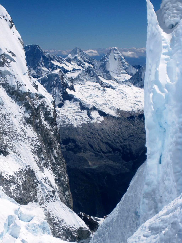 View of the Cordillera Blanca
