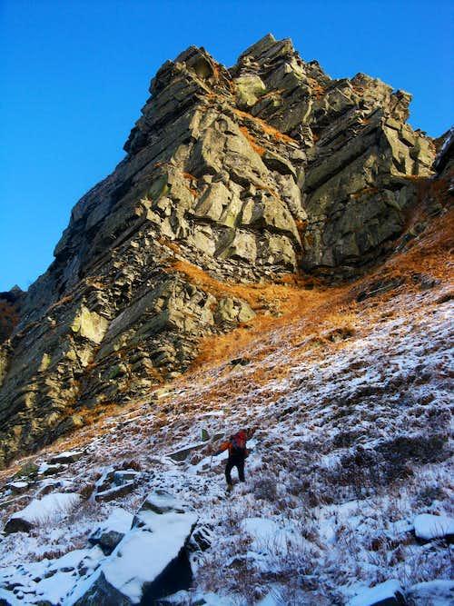 Pumaciolo Sillara winter circuit - Rising toward Pumacioletto