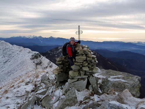 Monte Sillara summit cairn