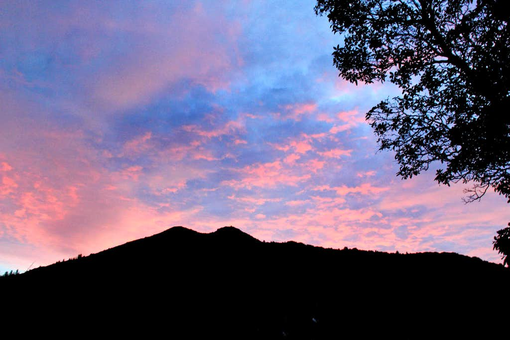 Sunset over Mt. Tamalpais