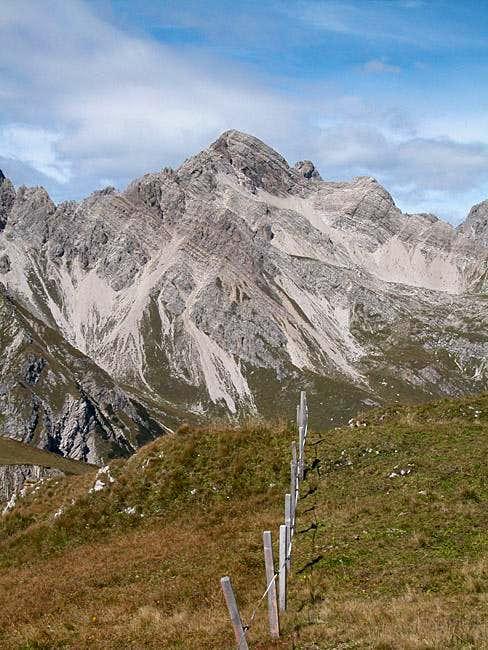 Grubenspitze (2671m) seen...