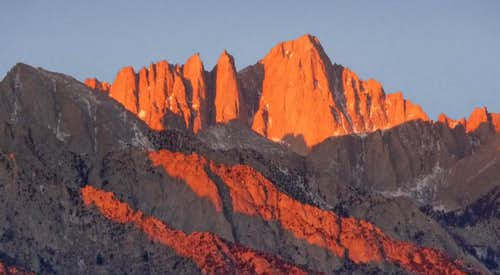 Sunrise on Mount Whitney