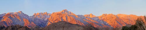 Lone Pine Sunrise Panorama