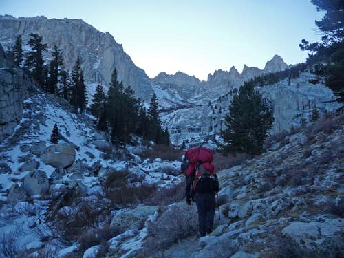 Approaching Lower Boyscout Lake
